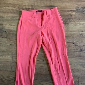 New Your & Co pink cropped ankle pants